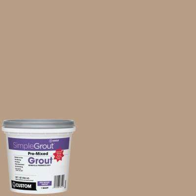 custom building products simplegrout 380 haystack 1 qt pre mixed grout pmg380qt the home depot