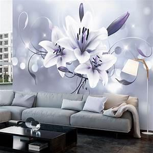 Wandbilder Grau Weiss : fototapete blumen abstrakt lilien vlies tapete wandbilder 3 farben b c 0040 a b ~ Sanjose-hotels-ca.com Haus und Dekorationen