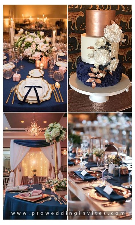 Glamorous Rose Gold Wedding Color Schemes for Your 2020