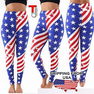 Womens Stars and Stripes Print American Flag Patriotic ...