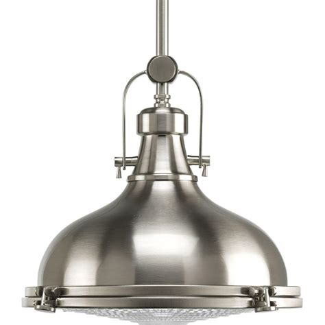brushed nickel pendant lighting kitchen progress lighting fresnel collection 1 light brushed 7973