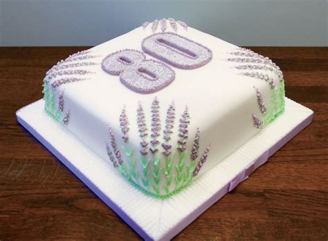 stylised lavendar  birthday cake