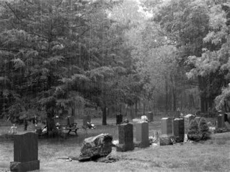 art contest cemetery  rain  fog