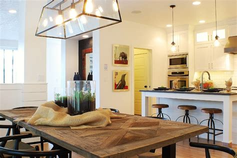 modern farmhouse dining room kitchen
