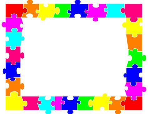 jigsaw puzzle piece border autism puzzle piece puzzle