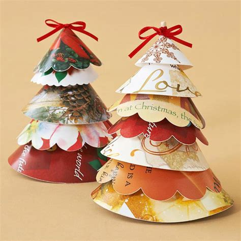 17 recycled craft ideas for christmas tree ornaments christmas card projects decorative ways to recycle christmas cards