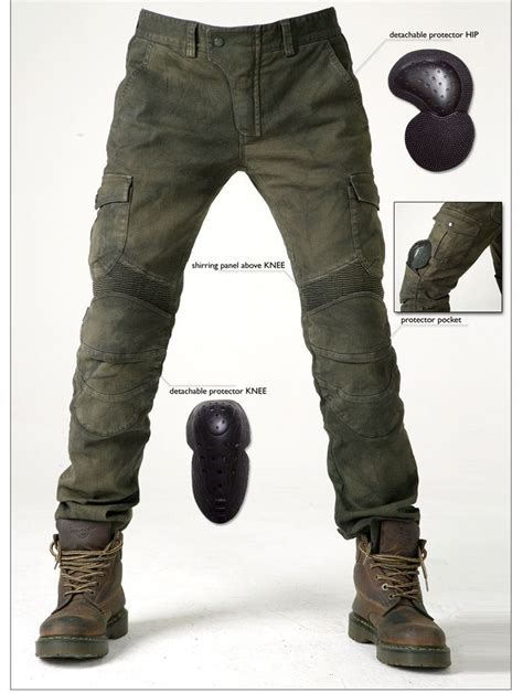 casual motorcycle riding free shipping ub06 army green casual motorcycle ride pants