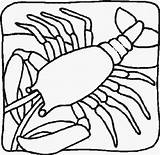 Lobster Coloring Pages Print Animals Crawfish Sheet Animal sketch template