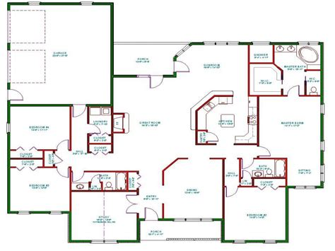 open concept home plans one story house plans one story house plans with open concept best one floor house plans