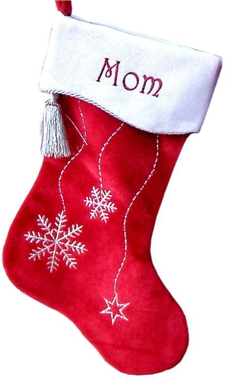 christmas stockings snowflake bling velvet personalized