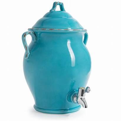 International Certified Dispenser Ceramic Beverage Qt Teal