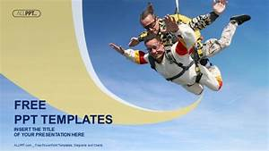 Skydiving Tandem Exhilaration Powerpoint Templates