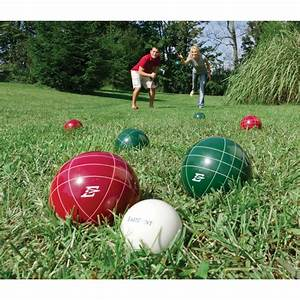 EastPoint Resin 103mm Bocce Ball Set with Caddy - Save 55%