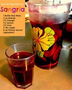 Sangria Drink Recipe Ingredients