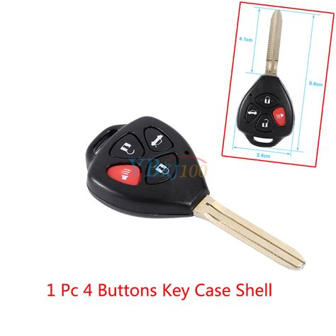 Button Car Remote Key Fob Shell Case For Toyota Corolla