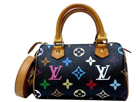 rare louis vuitton lv monogram multicolore mini sac hl