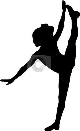 Silhouette sport dance stock vector