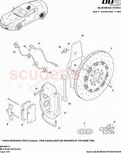 Aston Martin Dbs V12 Rear Brake Sub System Parts