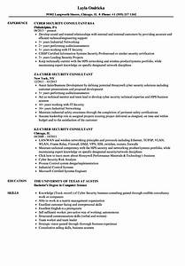 consultant cyber security resume samples velvet jobs With cyber security resume template
