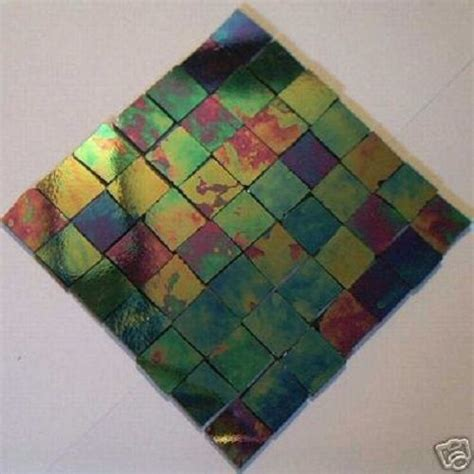 100 black iridescent mosaic tile stained glass tile