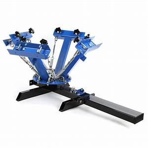 4 Color 1 Station Silk Screen Printing Machine Press ...
