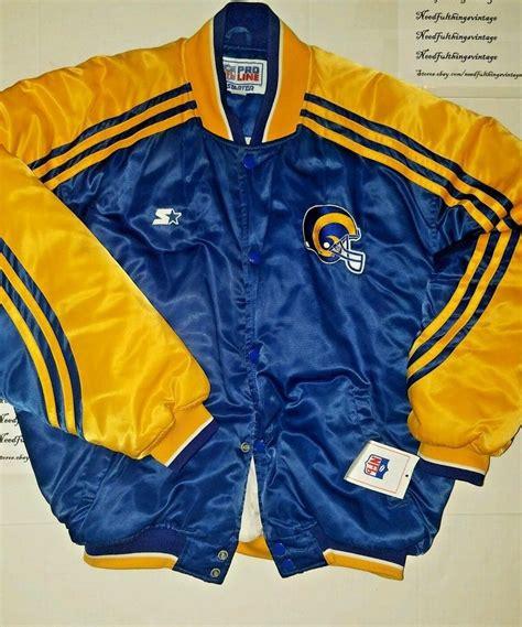 vintage los angeles rams starter jacket pro  bomber