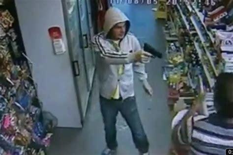 sunderland shop worker grabs gun  robber video tnt