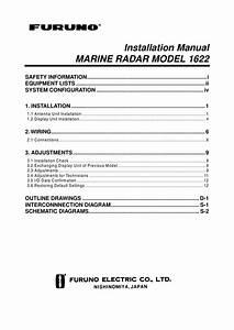 Furuno 1632 Radar Installation Manual