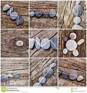 Bilder Mit Steinen : collage von steinen auf holz stockfoto bild 47955622 ~ Michelbontemps.com Haus und Dekorationen