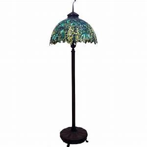 Antique tiffany floor lamps lighting and ceiling fans for Vesta tiffany floor lamp
