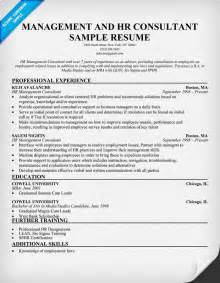HR Consultant Resume Sample