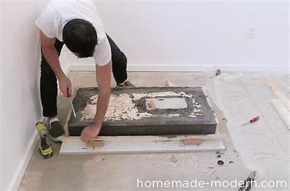 Table Concrete Fire Homemade Modern Ep84 Cement