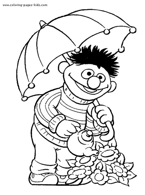 sesame street color page coloring pages  kids cartoon characters coloring pages