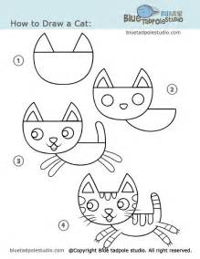 how to draw a cat step by step blue tadpole studio how to draw