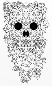 Tete De Mort Mexicaine Dessin : t te de mort coloriages autres ~ Melissatoandfro.com Idées de Décoration