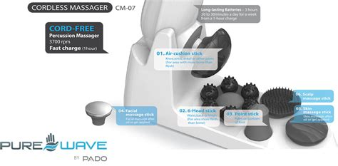 Pure Wave Cordless Massager - Extreme Power, Hand-held
