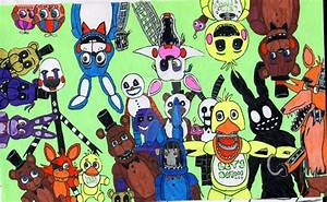 All FNaF 2 Characters by StormStrikeElectric on DeviantArt