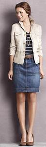 Khaki Jacket with Denim Skirt Outfit | My Style Pinboard | Pinterest