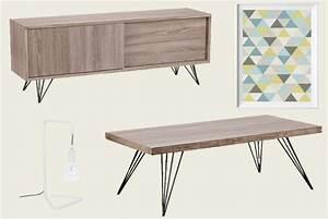 meuble tele table basse en bois style scandinave nordique With meuble nordique
