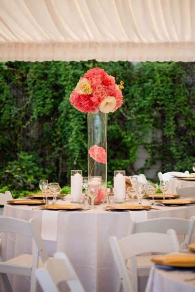 centre table corail mariage mariage centre de table en