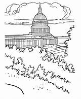 Coloring Building Capitol Printables Usa Buildings sketch template