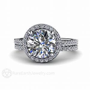 Moissanite Engagement Ring And Wedding Band Moissanite Ring