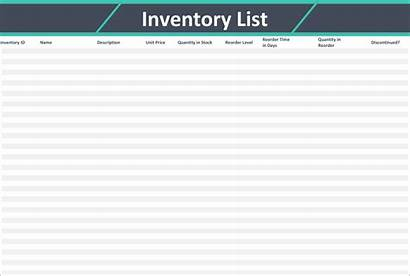 Inventory Checklist Templates Template Sheets Google Reorder