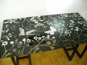Glas Tischplatte Ikea : tischplatte glas mit schwarzen blumen in m nchen ikea m bel kaufen und verkaufen ber private ~ Orissabook.com Haus und Dekorationen
