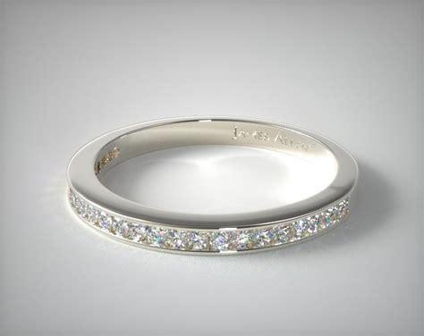 ct channel set diamond wedding band  white gold