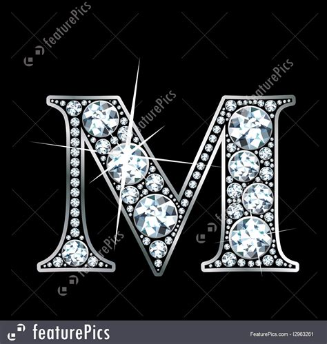 illustration  diamond letter