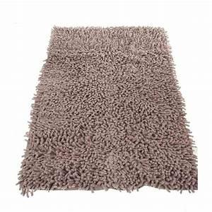 tapis de salle de bain 50x80cm taupe With tapis de bain taupe