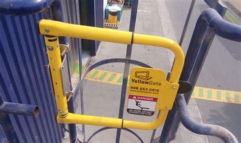 swing gate swing gates osha compliant industrial safety gates