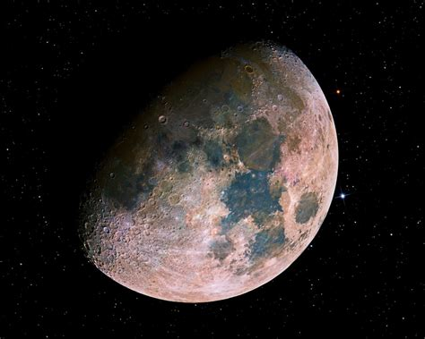 True Color Picture Of Our Moon, Unfiltered By Our Nitrogen