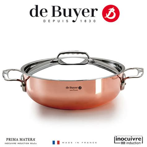 de buyer copper cookware inocuivre induction prima matera